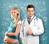 Pregnant Woman With Doctor