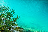Crystal clear blue lake