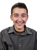 joyful teenager boy