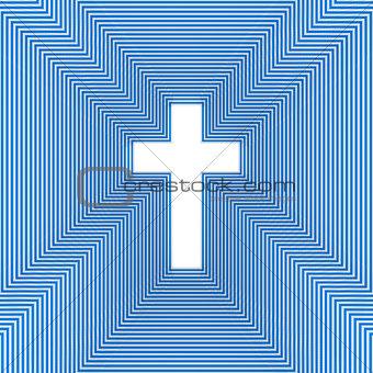 Abstract christian cross