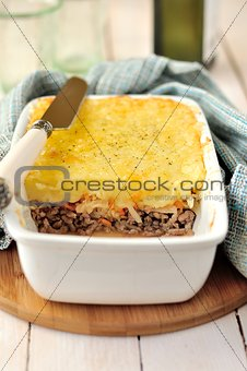 Potato, Sauerkraut and Meat Bake