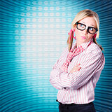 Innovative marketing woman looking at copyspace