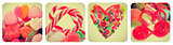 heart candies collage