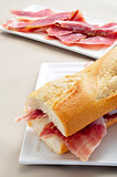 spanish serrano ham sandwich