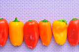sweet bite peppers of different colors