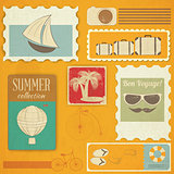 Summer Travel Card in Vintage Style