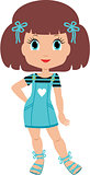 Girl cartoon.