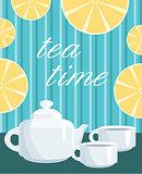 Card. Menu Tea service