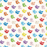 Seamless shoes pattern