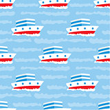 Seamless ships pattern