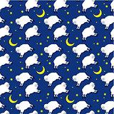 Seamless sleeping lambs pattern
