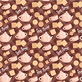 Seamless tea pattern