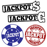 Set of jackpot stamps