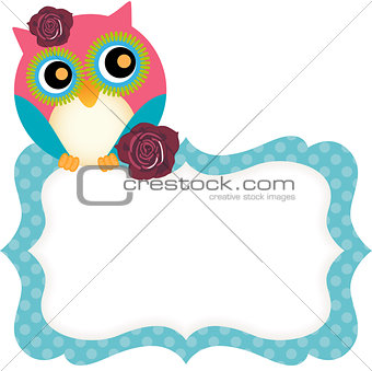 Cute owl tag
