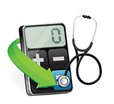 calculator with a Stethoscope