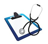 clipboard with a Stethoscope