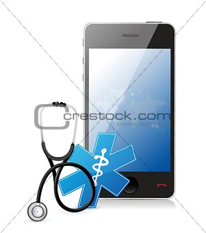 smartphone medical app with a Stethoscope