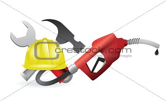 tools with a gas pump nozzle