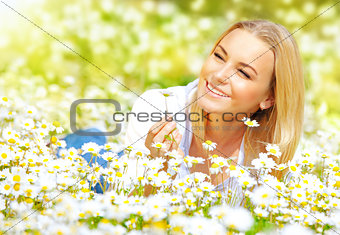 Girl on daisy glade