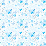 Seamless children's things pattern.