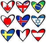 flag hearts 2