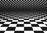 Curved chequered floor