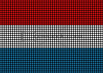 Abstract Luxembourg Flag