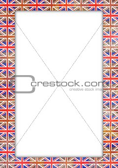 UK flag border