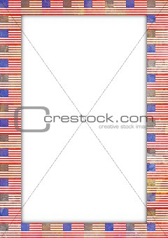 USA flag border