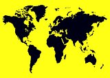 Yellow Black Map