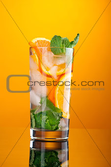 Mojito orange cocktail.
