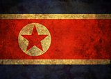 Grunge North Korea Flag