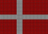 Abstract Denmark Flag