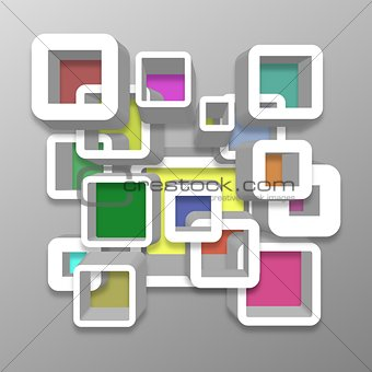 Abstract Perspective Squares