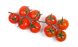 bunch of cherry tomatoes isolated on white