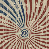 American patriotic abstract background on wooden texture. Vector