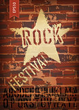 Rock festival poster. Vector, EPS10 