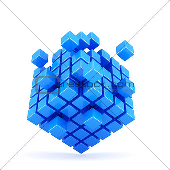 Blue box shape