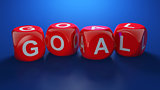 Red dices with GOAL text