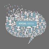 Social Media Bubble Speech Concept. Vector, EPS10
