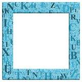 Blue Letter Frame