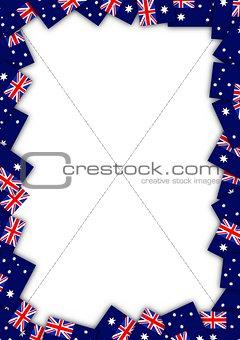Australia flag border
