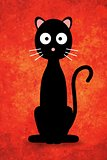 Black Cartoon Cat