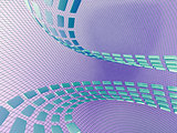 abstract cubes on the light netted background