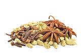 Star anise, cardamom, vanilla bark