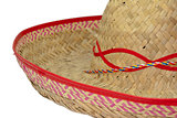 Detail of a wide-brimmed sombrero