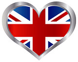 England Union Jack Flag Heart