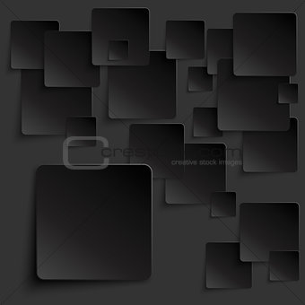 Black tiles abstract vector background eps10 vector illustration