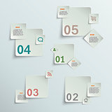 Make your choice - paper stickers eps10 vector illustration