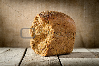 Loaf of rye bread